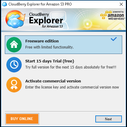 upgrade license key cloudberry explorer pro